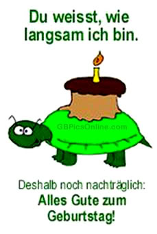 Geburtstag nachträglich